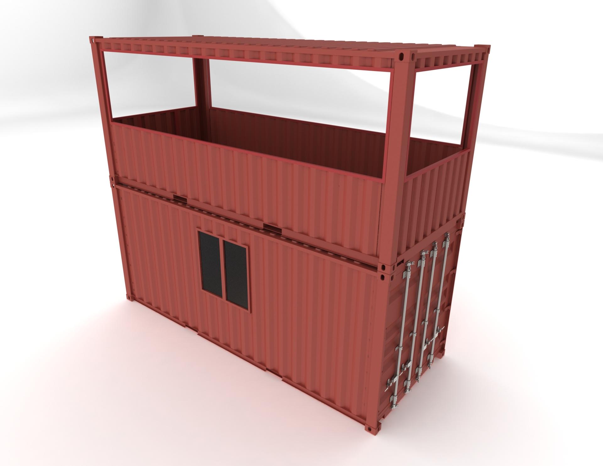 container-pompier-podium