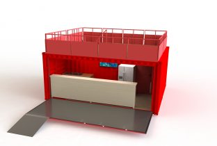 Stand-salon-container